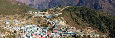 New research has determined the global population for people living in high-altitude, like this village in Namche Bazaar, Nepal is more than 500 million. (photo courtesy of Alex Hansen)