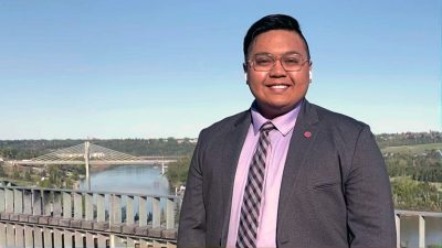 Venedict Tamondong, who recently graduated from UBCO with a Bachelor of Applied Science in Mechanical Engineering, was also awarded the 2021 Dr. Gordon Springate Sr. Award in Engineering.