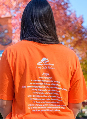 The text displayed on official Orange Shirt Day shirts