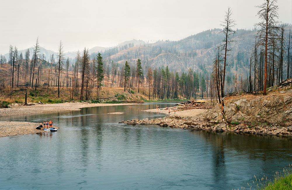 The Kettle River Recreation Area photographed three years after a 2015 fire impacted the area